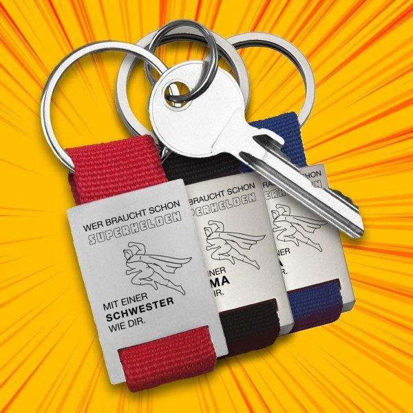 Schlüsselanhänger - Wer braucht schon Superhelden - Frauen