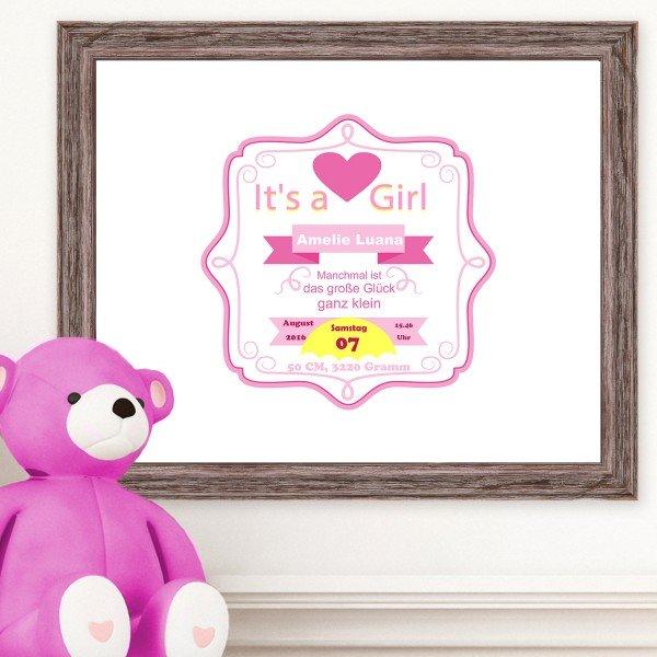 - Wandbild It's a Girl - Onlineshop Geschenke24