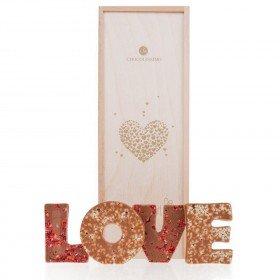 LOVE - Schokoladenbuchstaben Vollmilch
