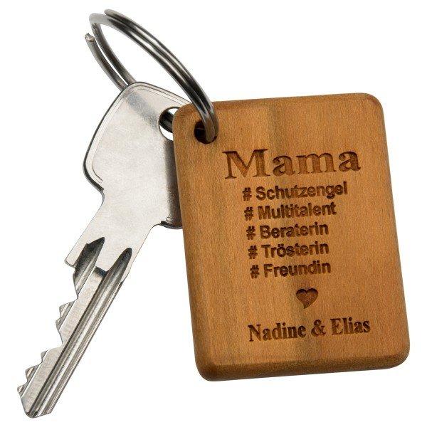 - Schlüsselanhänger Beste Mama mit Gravur - Onlineshop Geschenke24