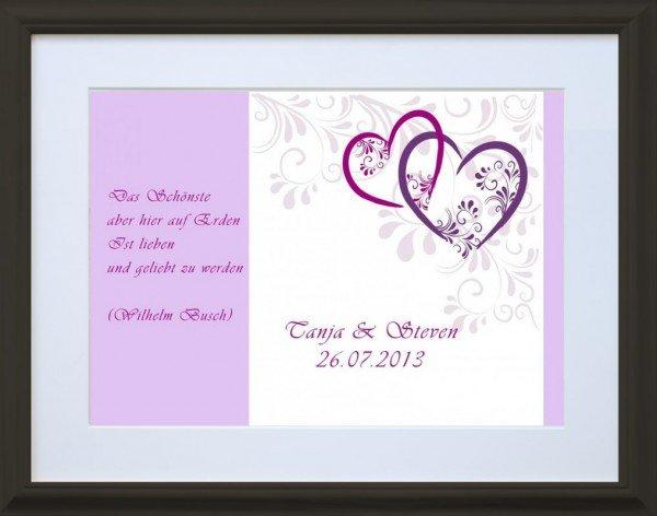 Romantischer Liebesbrief - Schwarz
