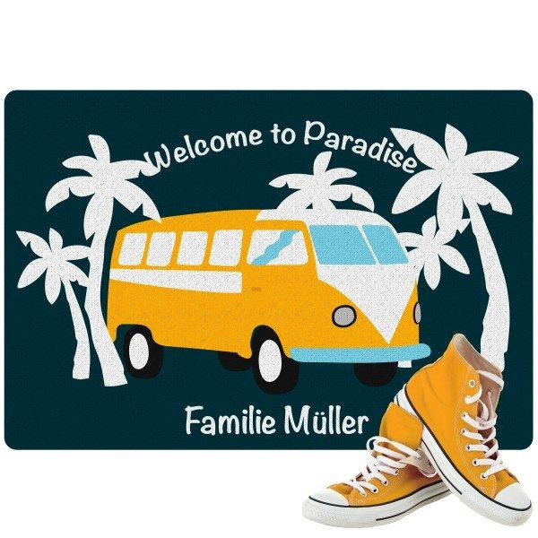 Fußmatte - Welcome to Paradise mit Personalisierung