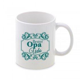 Tasse mit Ornament - Bester Opa