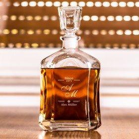 Whiskykaraffe mit Initialen