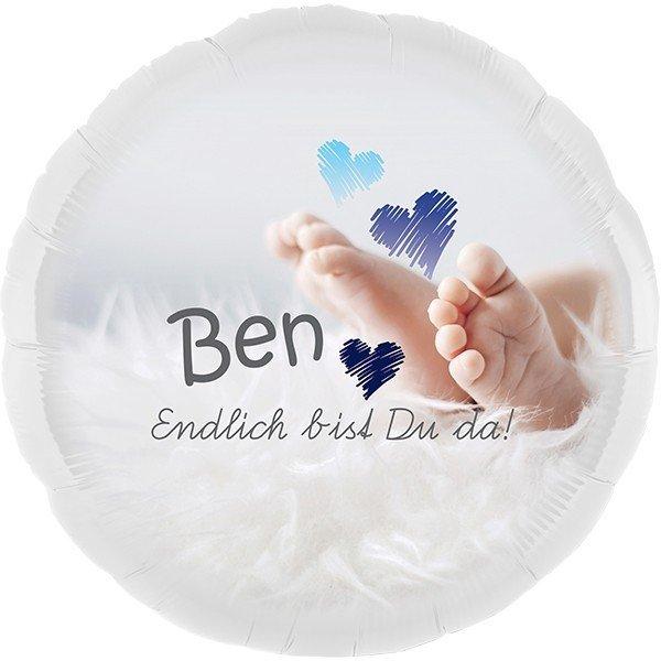 Persönlicher Folienballon – Endlich bist Du da!