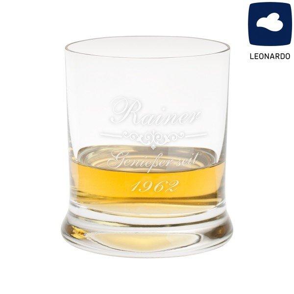 Graviertes Whiskyglas von Leonardo