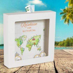 3D-Bilderrahmen - Spardose Weltreise