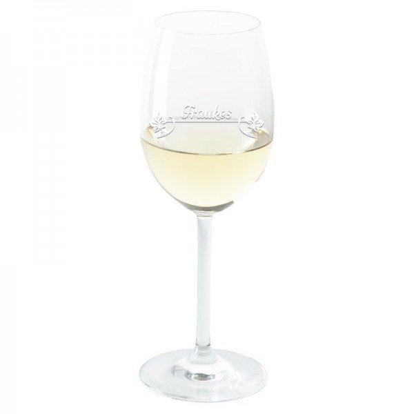 Weinglas - Blüten mit Personalisierung (Glas)