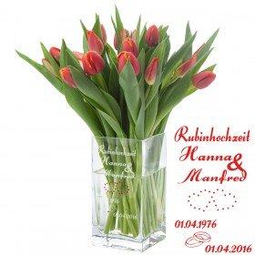 Vase - Rubinhochzeit