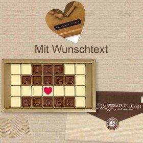 Persönliches Chocotelegram mit Wunschtext