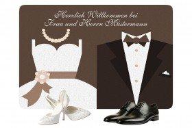 Fußmatte - Braut und Bräutigam