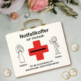 Geldkoffer - Notfallkoffer zur Hochzeit
