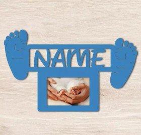 Bilderrahmen - Baby Fußabdruck mit Name