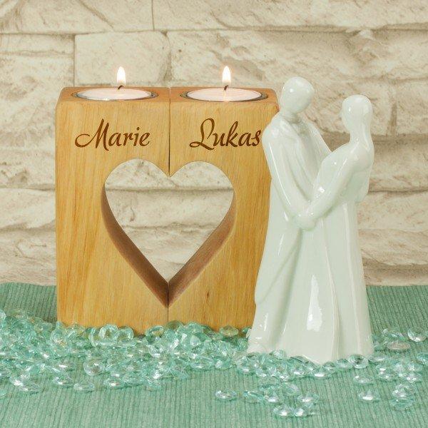 Kerzenständer Herz