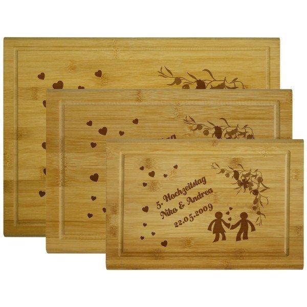 Holzbrettchen - Liebespaar mit Personalisierung