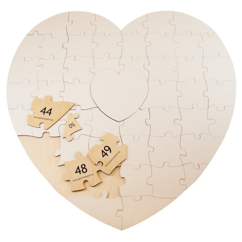 Holz Puzzle Herz Zum Beschriften