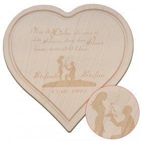 Holzbrettchen - Liebespärchen