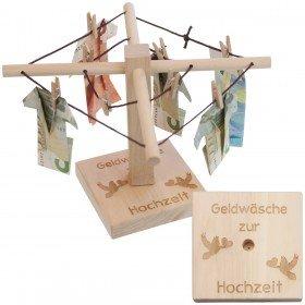 Geld - Wäschespinne mit Gravur