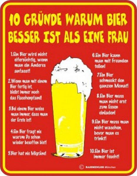 Blechschild Bier