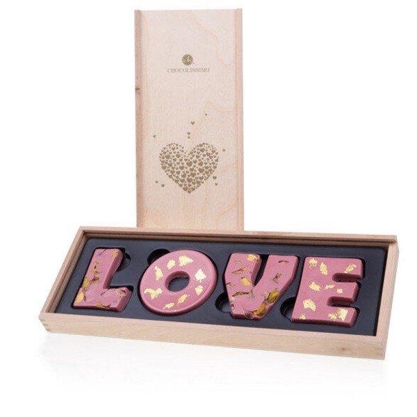 - LOVE Schokoladenbuchstaben Ruby - Onlineshop Geschenke24