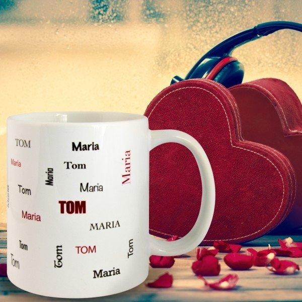 Tasse mit zwei Wunschnamen