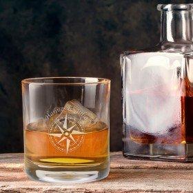 Whiskyglas - Kompass mit Personalisierung