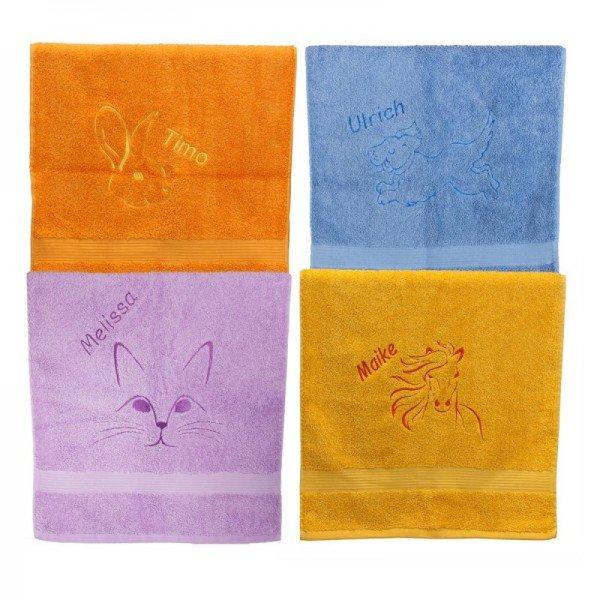 Handtuch mit Tiermotiv und Name