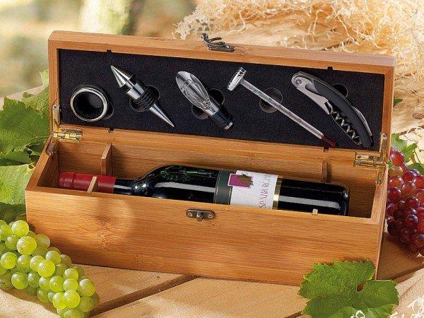 Bambus-Geschenkbox für eine Weinflasche