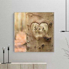 Leinwand - Baum mit Herz