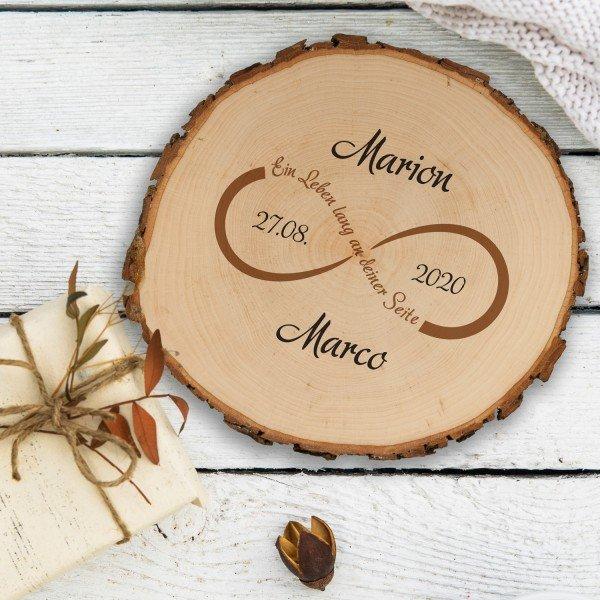 Baumscheibe Unendlichkeit mit Personalisierung - Druck oder Gravur