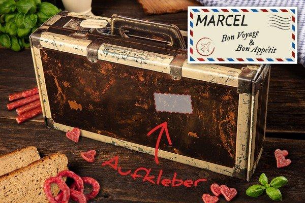 Wurst Geschenk Koffer mit Personalisierung