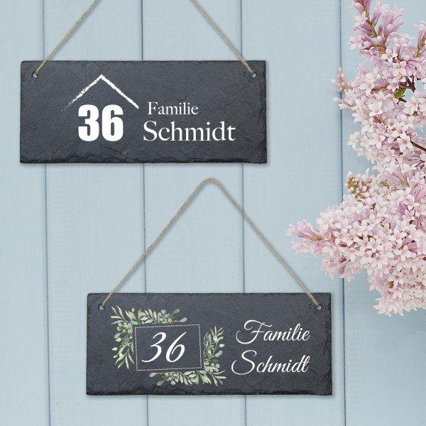 Schiefertafel Wunsch-Hausnummer