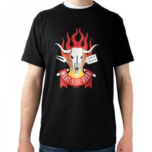 T-Shirt Meat Fire Beer