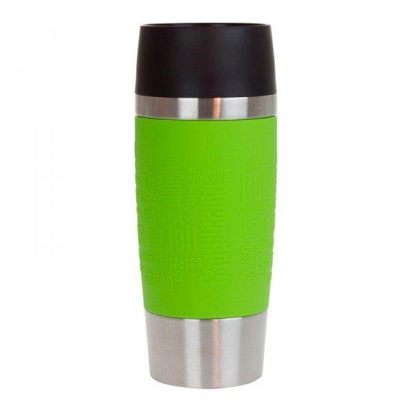 Thermobecher Emsa mit Wunschname (grün)