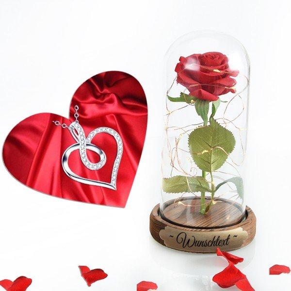 Liebes Set Ewige Rose