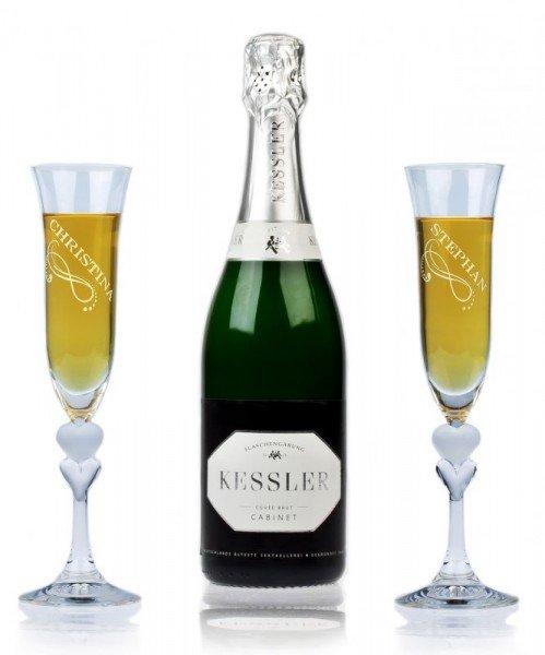 Sekt Geschenkset Kessler Cabinet (2 Gläser)