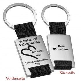 Schlüsselanhänger - Scheiß auf Valentinstag
