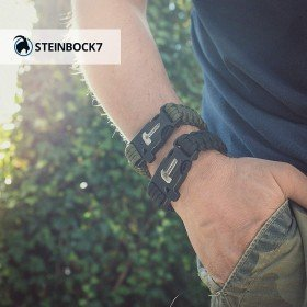 2er Set Paracord Survival Armband
