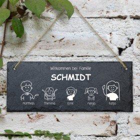 Schiefertafel - Individuell im Comic Stil