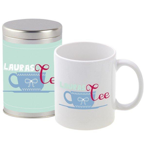 "Tee-Set - ""Teetasse"" mit Wunschname"