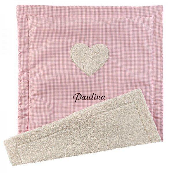 Individuellbabykind - Flauschige Babydecke mit Wunschname - Onlineshop Geschenke24