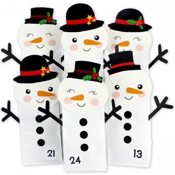 Adventskalender zum Befüllen - Schneemann