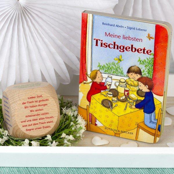 Tischgebete für Kinder - Buch und Holzwürfel