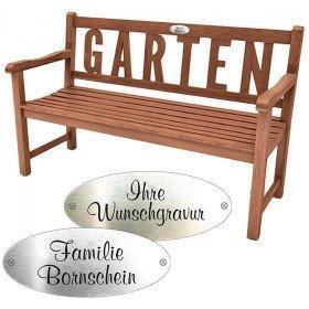Gartenbank - Indio mit Wunschgravur