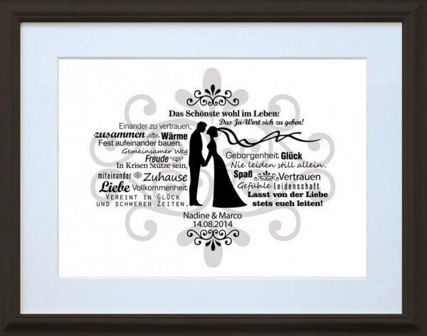 Wandbild - Brautpaar