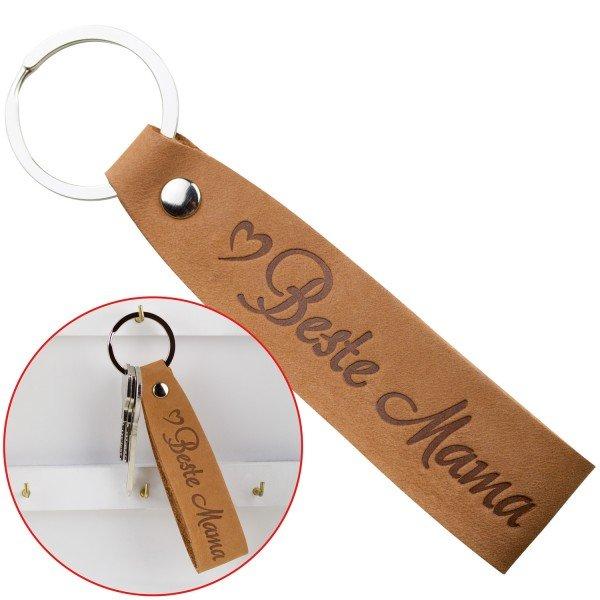 Schlüsselanhänger aus Leder - beste Mama