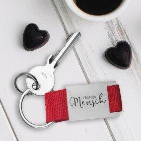 Schlüsselanhänger Lieblingsmensch mit Personalisierung