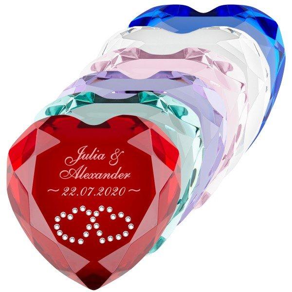 Herz-Diamant mit Gravur
