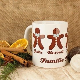 Becher - Gingerbread Family