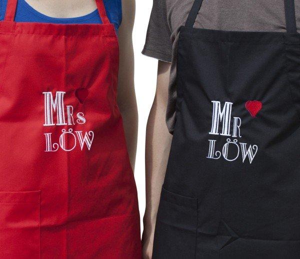 Schürzenset - Mr. und Mrs.
